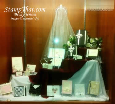 Stampin' Up! Library Display – Wedding