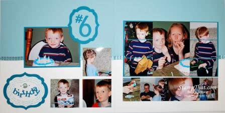 Sixth Birthday Scrapbook Page