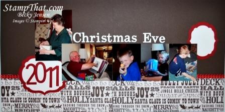 Christmas 2011 Scrapbook Layouts