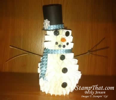 Build a Stampin' Up! Snowman!
