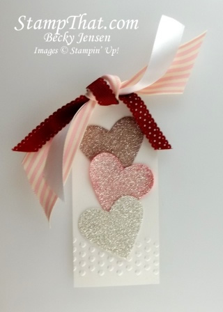 Glittery Valentines Day Tag