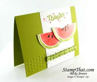Mouthwatering Watermelon Handmade Card