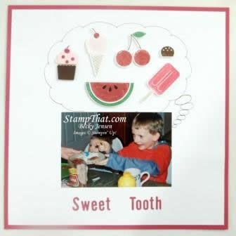 Sweet Tooth Scrapbook Page