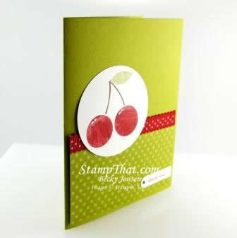 Stampin' Up! Mouthwatering Cherries