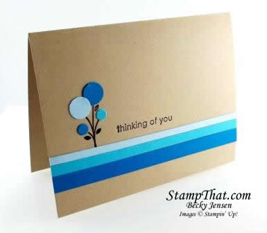 Summer Smooch Bright Blossoms Card
