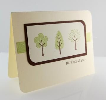 Stampin' Up! Trendy Trees Card