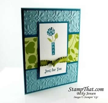 Stampin' Up! Bright Blossoms in Baja Breeze