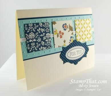 Stampin' Up! Card Class – Layered Labels