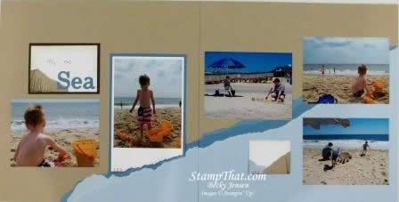By the Sea Scrapbook Pages