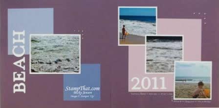 Purple Beach Scrapbook Pages?