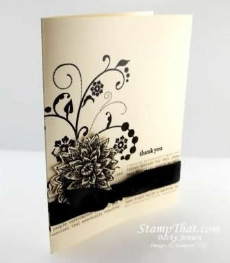 FLowering Flourishes Vanilla &amp; Black Card