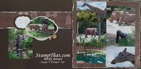 Scrapbooking Animal Kingdom's Safari Trip