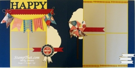 Happy Scrapbook 2-Page Layout