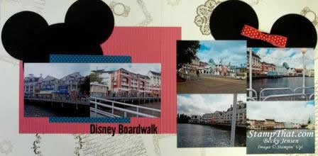 Disney Boardwalk Scrapbook Page