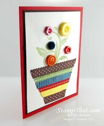 Flowering Flourishes Flower Pot Card