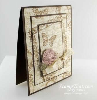 Stampin&#8217; Up! Papaya Collage Vintage Style Card