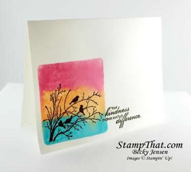 Stampin&#8217; Up! Serene Silhouettes Card