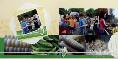 Perfectly Preserved Corn Scrapbook Page