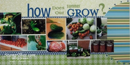 How Does Our Summer Grow Scrapbook Page