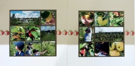 Apple Picking Scrapbook Pages