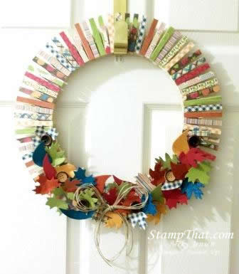 30 August 2012 Orchard Harvest Home Decor Wreath. SU  Orchard Harvest DSP Homemade Home Decor Wreath