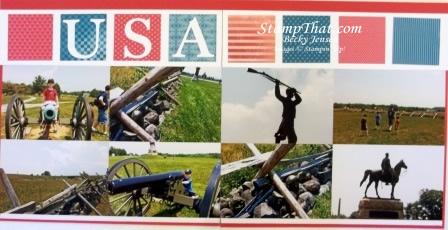 Visiting Gettysburg Scrapbook Page