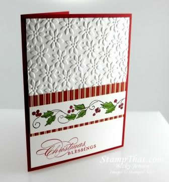 Stampin' Up! Christmas Blessings Card