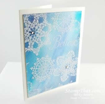 Snowflake Soiree Watercolor Card