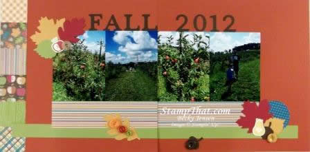 Fall 2012 Scrapbook Layout