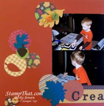 Creative Fun Scrapbook Page