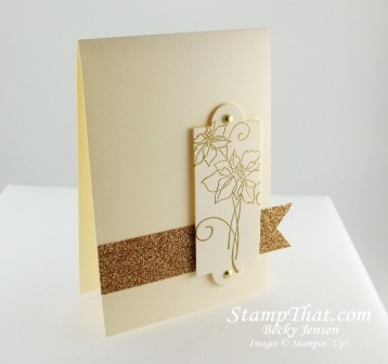 Elegant Christmas Blessings Card