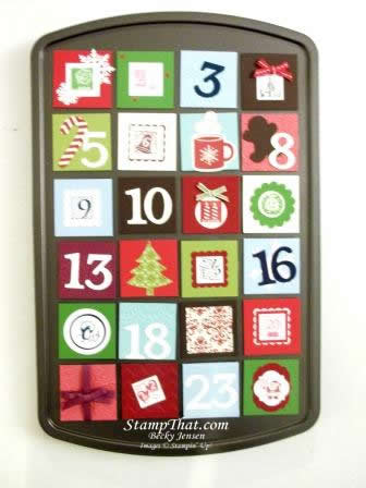 Handmade Tart Tin Advent Calendar