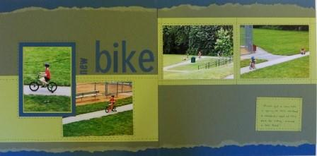 Magical & New Bike Scrapbook Pages