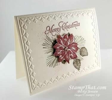 Watercolor Winter Stamp Set Christmas Card