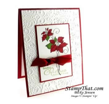 Christmas Blessings Poinsettia Card