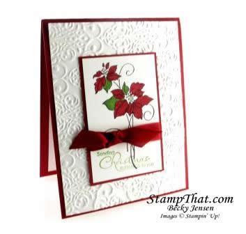 Christmas Blessings Poinsettia Card