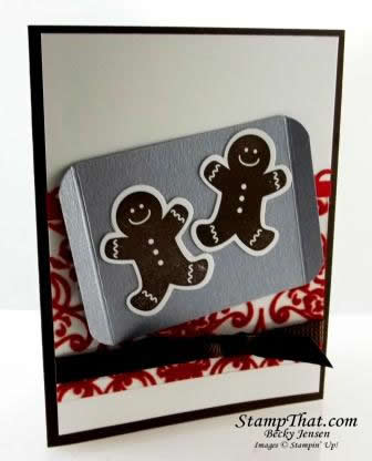 Gingerbread Cookie Christmas Card