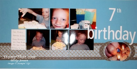 7th Birthday Scrapbook Page