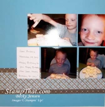 Stampin' Up! Birthday Scrapbook Page