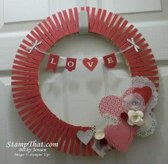 Stampin&#8217; Up! Valentine Wreath Class &amp; Kits