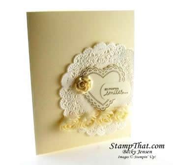 Vanilla Artisan Embellishment Card