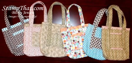 Stampin' Up! Fabric Bags