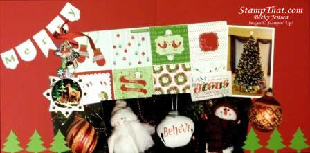 Christmas Ornaments Scrapbook Pages