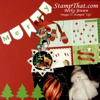 Chistmas ornament scrapbook page