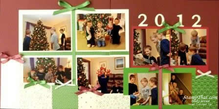 Opening Christmas Presents Scrapbook Page