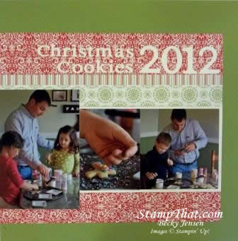 Stampin' Up! Christmas Cookies Scrapbook pages