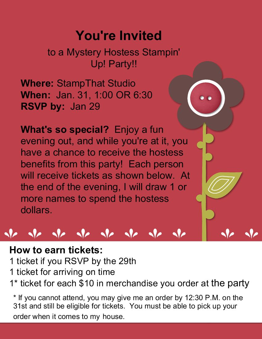 You're Invited to a Mystery Hostess Party