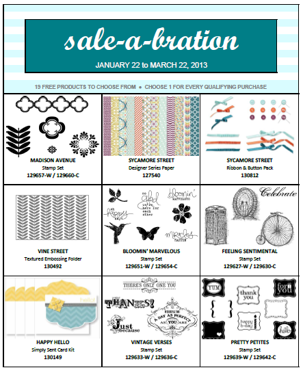 SU! Sale-A-Bration product 2013