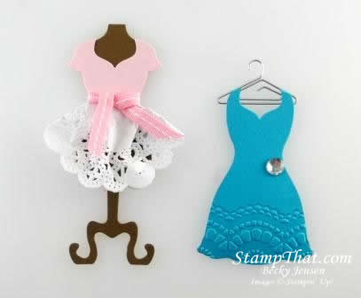 More Stampin' Up! Dresses – All Dressed Up