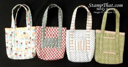 Stampin Up! Fabric Bags